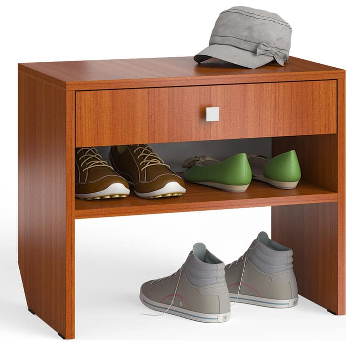 Тумба для обуви Мебельный двор С-МД-ТО-08 вишня с выдвижным ящиком кровать с выдвижным ящиком paremo кровать с выдвижным ящиком