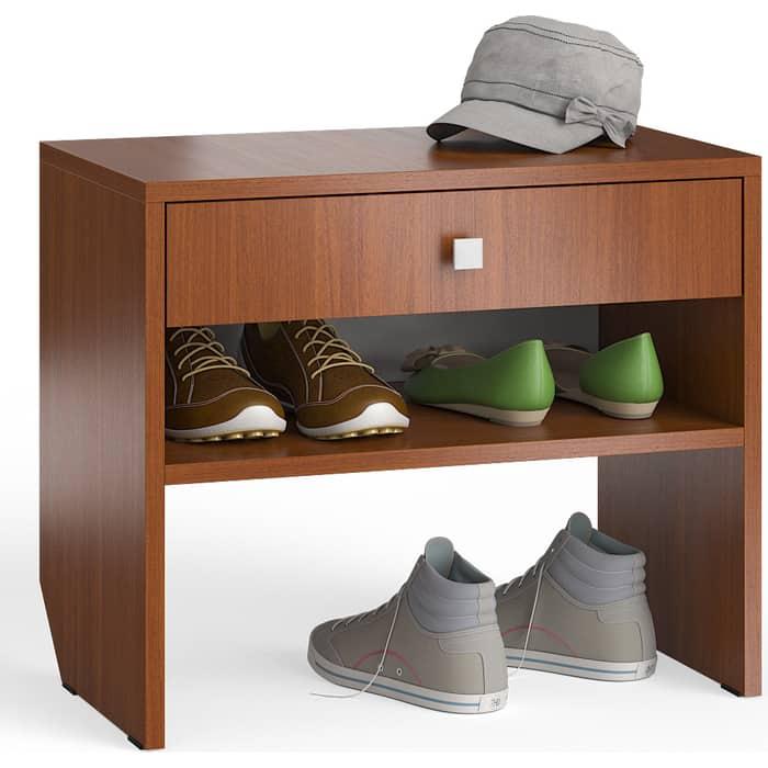 Тумба для обуви Мебельный двор С-МД-ТО-08 итальянский орех с выдвижным ящиком кровать с выдвижным ящиком paremo кровать с выдвижным ящиком