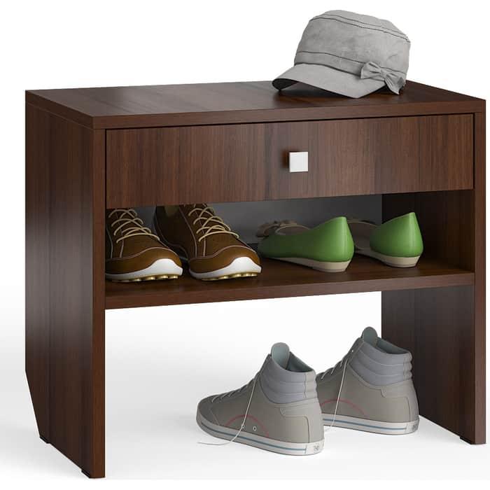 Тумба для обуви Мебельный двор С-МД-ТО-08 орех с выдвижным ящиком