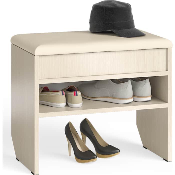 Тумба для обуви Мебельный двор С-МД-ТО-09 дуб с нишей и мягким сиденьем