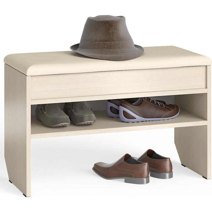 Фото - Тумба для обуви Мебельный двор С-МД-ТО-10 дуб с нишей и мягким сиденьем тв тумба с нишей первый мебельный тумба для аппаратуры с нишей 1500 парма люкс