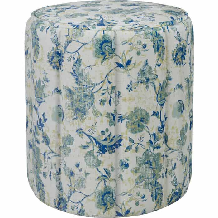 Пуф Нижегородмебель и К Вояж ткань ТП 175 фибра классика 1904/1 синие цветы