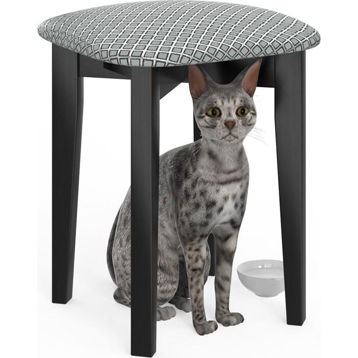 Фото - Табурет Мебель-24 Мерлин-2 венге, обивка ткань атина серебро (продается собранным) стул мебель 24 гольф 11 орех обивка ткань атина коричневая
