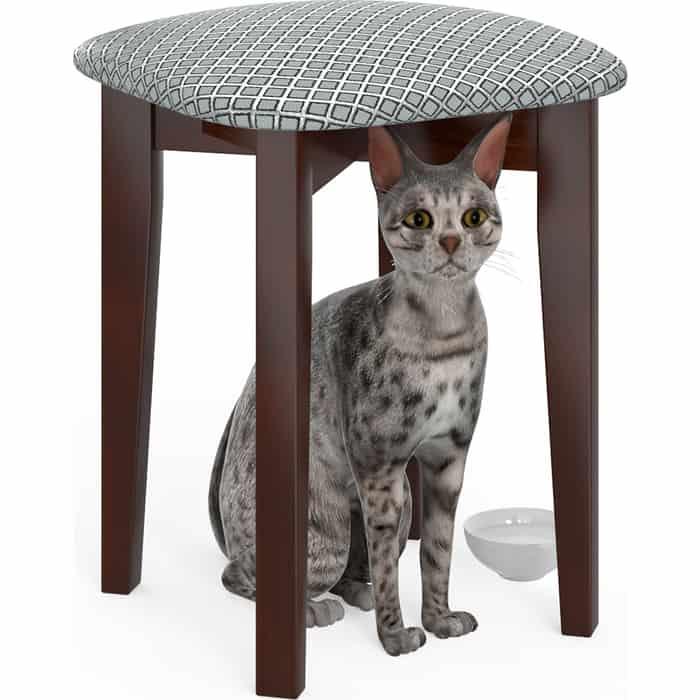 Фото - Табурет Мебель-24 Мерлин-2 орех, обивка ткань атина серебро (продается собранным) стул мебель 24 гольф 11 орех обивка ткань атина коричневая