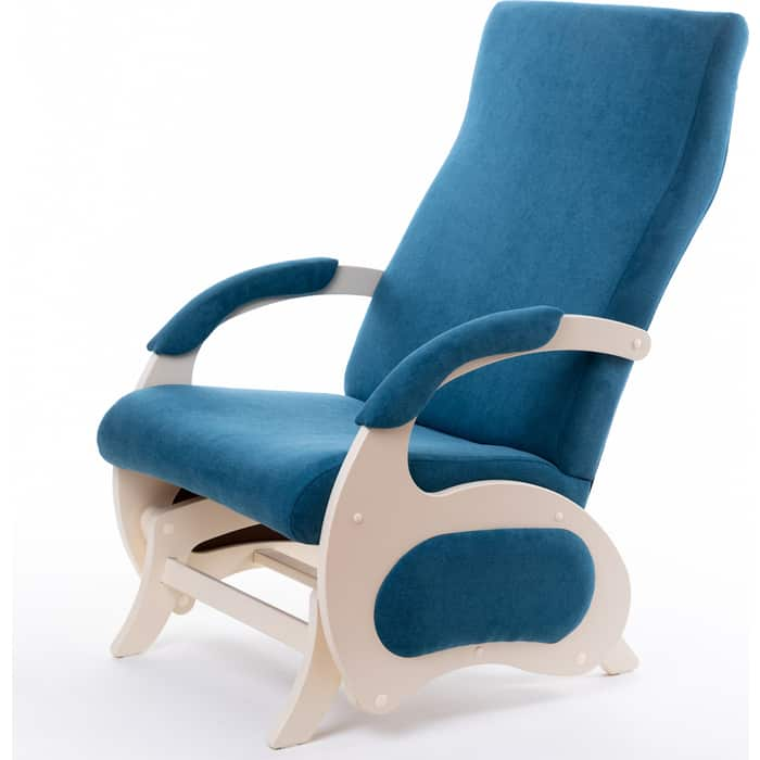 Кресло-слайдер Мебелик Пиза без вставки ткань бирюза/каркас дуб шампань