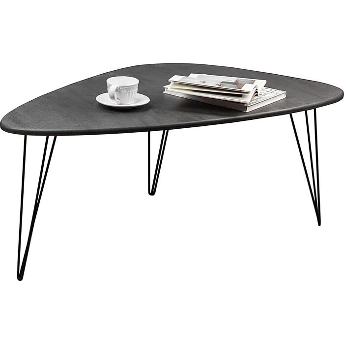 Стол журнальный Мебелик BeautyStyle 12 серый бетон/черный
