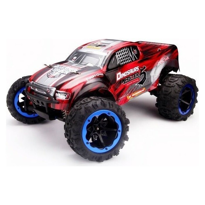 1 8 vrx 2e 4wd brushless ready to run buggy Радиоуправляемый монстр Remo Hobby Dinosaurs Master Brushless (красный) 4WD 2.4G 1/8 RTR