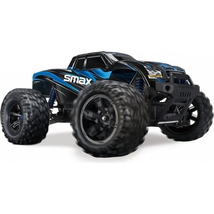 Фото - Радиоуправляемый монстр Remo Hobby SMAX (синий) 4WD 2.4G 1/16 RTR радиоуправляемый монстр remo hobby mmax upgrade 4wd rtr масштаб 1 10 2 4g rh1035upg blue