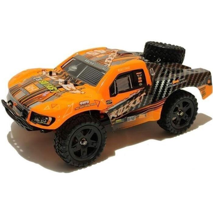 Радиоуправляемый шорт-корс Remo Hobby Rocket (оранжевый) 4WD 2.4G 1/16 RTR радиоуправляемый шорт корс трак remo hobby truck 9emu 4wd rtr масштаб 1 8 2 4g 1021