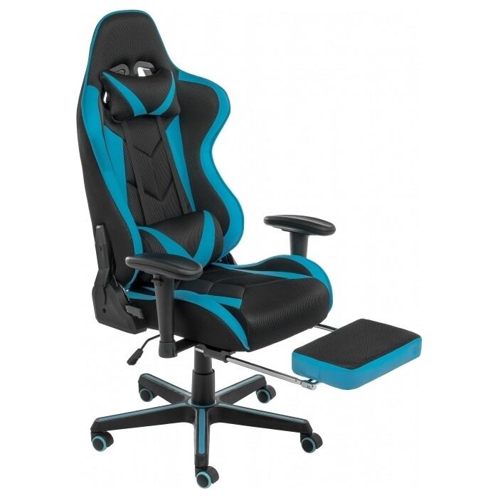 Кресло Woodville Kano черное/голубое