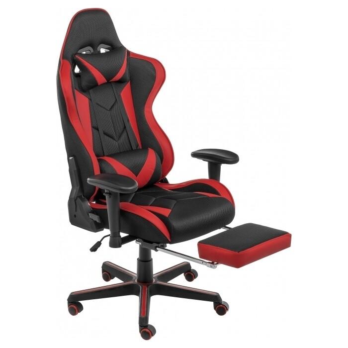 Кресло Woodville Kano черное/красное