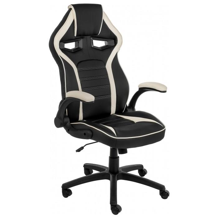 Кресло Woodville Monza 1 кремовое/черное