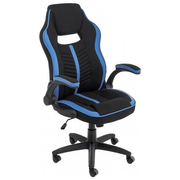Кресло Woodville Plast черный/голубой