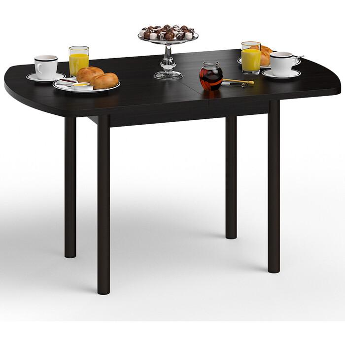 Стол обеденный Delice Микс венге/опоры цвет шоколад