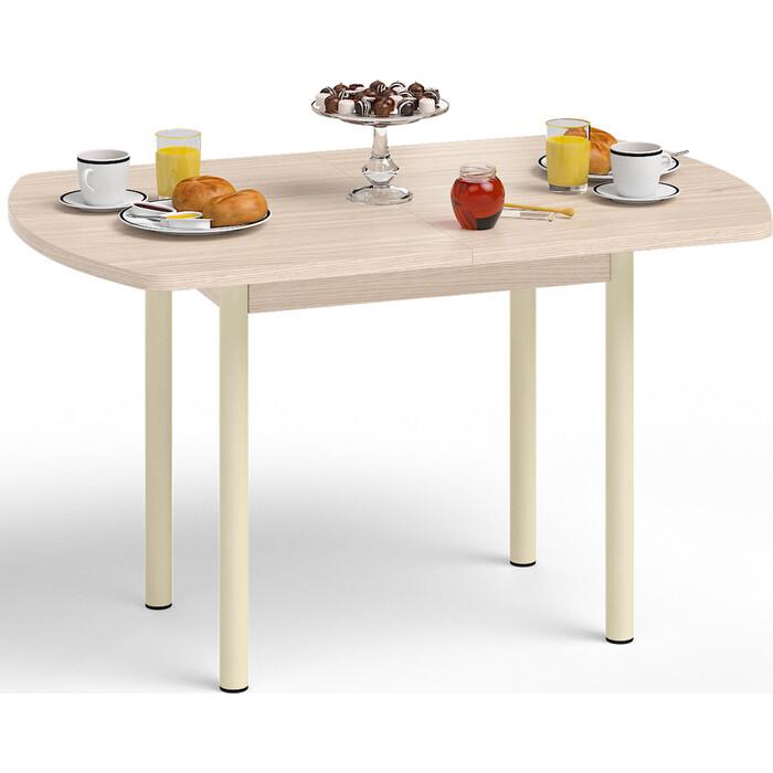 Стол обеденный Delice Микс дуб/опоры цвет ваниль
