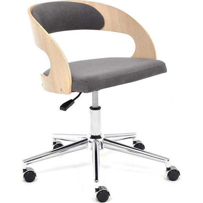 Кресло TetChair Jazz дуб флок серый 29