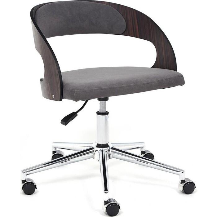 Кресло TetChair Jazz палисандр флок серый 29
