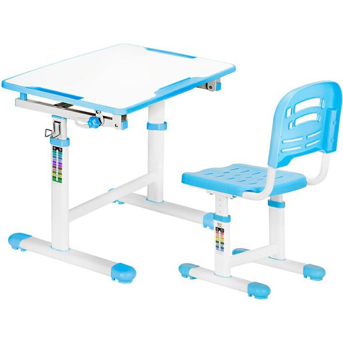 Комплект мебели (столик + стульчик) Mealux EVO-07 blue столешница белая/пластик синий