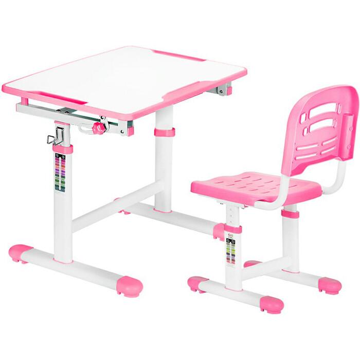 Комплект мебели (столик + стульчик) Mealux EVO-07 pink столешница белая/пластик розовый