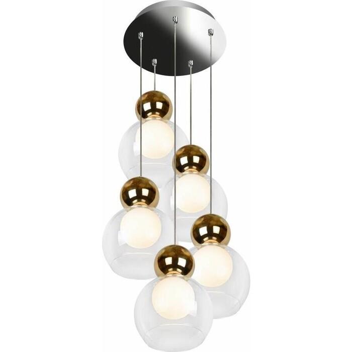 Люстра iLedex Подвесная светодиодная Blossom C4476-5R GL
