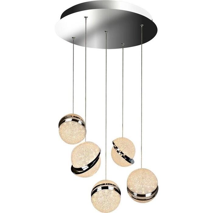 Люстра iLedex Подвесная светодиодная CRystal Ball C4474-5R CR