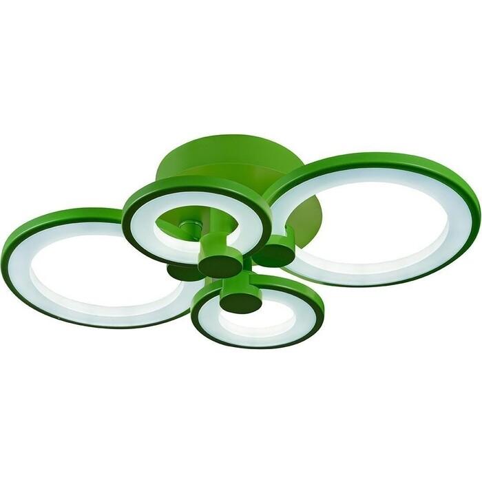 Люстра iLedex Потолочная светодиодная Ring A001/4 Green
