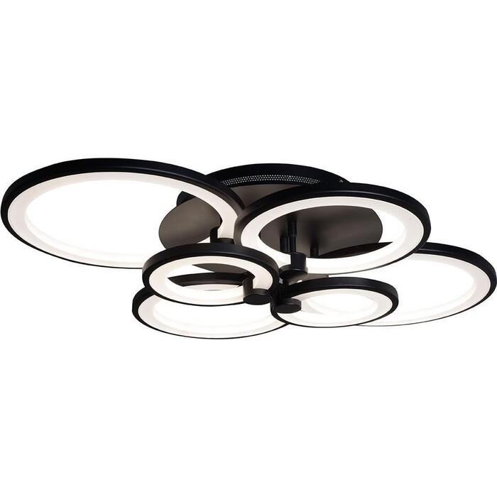 Люстра iLedex Потолочная светодиодная Ring A001/6 BK