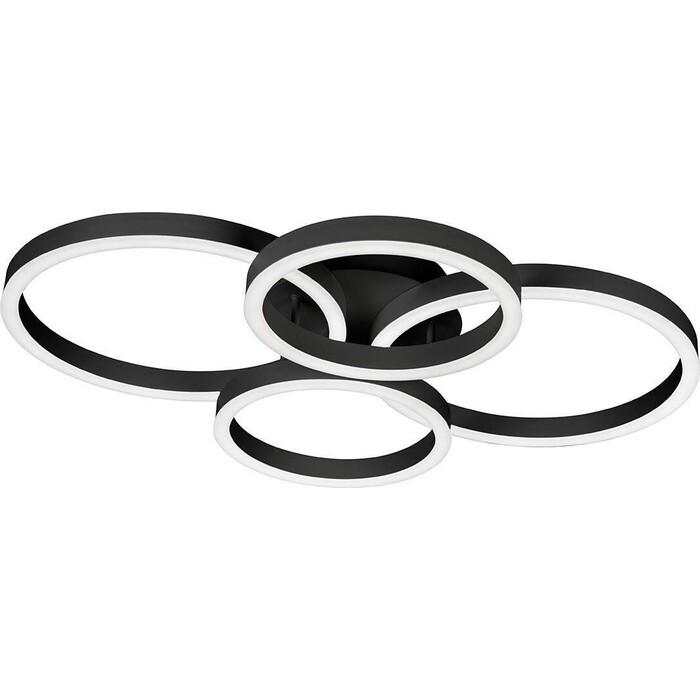 Люстра iLedex Потолочная светодиодная Ring-New 6815-300/400-X-T BK