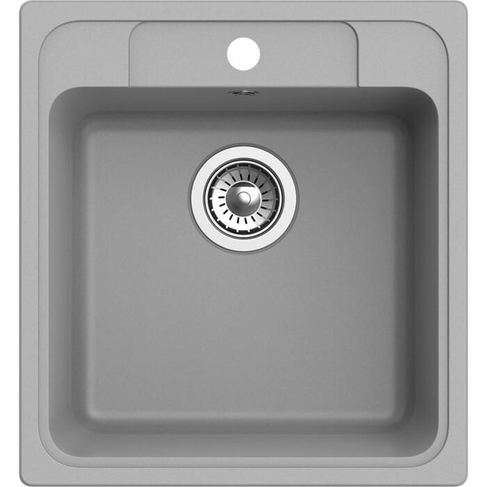 Мойка кухонная Ewigstein Elegant E-50 серый металлик