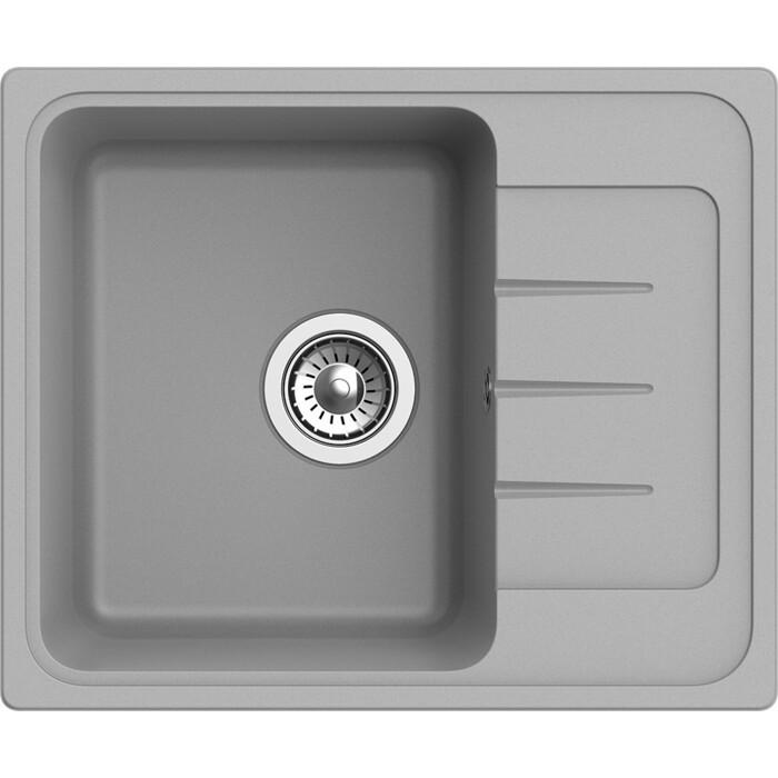 Мойка кухонная Ewigstein Elegant E-45F серый металлик