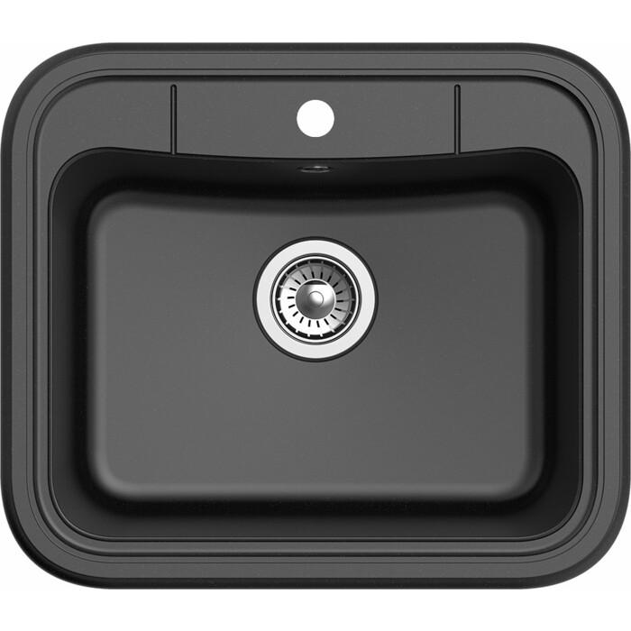 Фото - Мойка кухонная Ewigstein Antik A-60 черный врезная кухонная мойка 60 5 см granmill 024 24чер черный