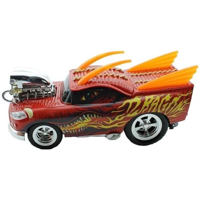 Радиоуправляемая машина Wangfeng Дракон из серии Muscle Car с гоночным Мотором 1/16 + свет звук пульт пистол. типа