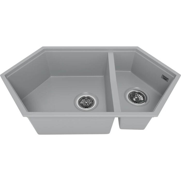 Мойка кухонная KitKraken Creek Grey серая (Y-900M.7032)