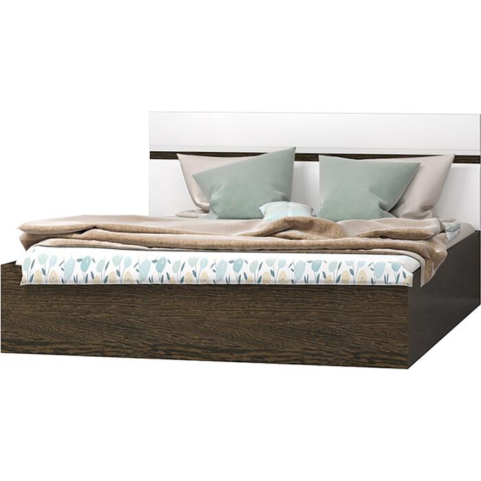 Кровать Ника Николь 1,4 МДФ венге/белый глянец гостиная миф ника венге белый