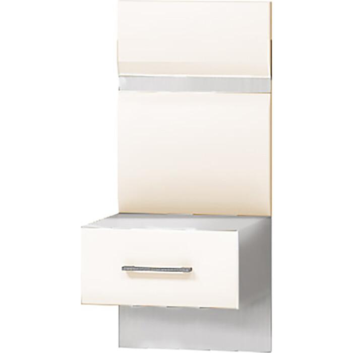 Ника Тумба прикроватная с 1-м ящиком Николь МДФ ясень шимо светлый/кофе молоком