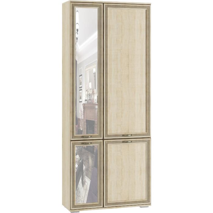 Фото - Шкаф комбинированный с зеркалом Ника Ливорно ЛШ-9 дуб сонома кровать кровать с пм ливорно 160х200 ливорно в цвете дуб сонома