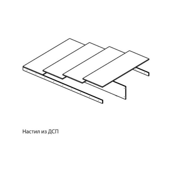 Ника Основание для кроватей 1,4 (ЛКР-1, РКР-1) настил из ДСП