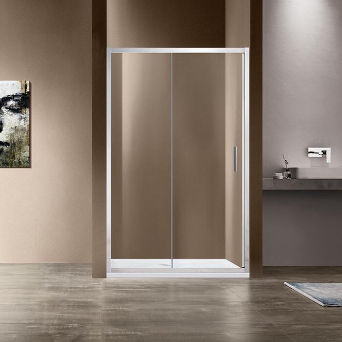 Душевая дверь Vincea Garda VDS-1G 130x190 профиль хром, стекло прозрачное (VDS-1G130CL)