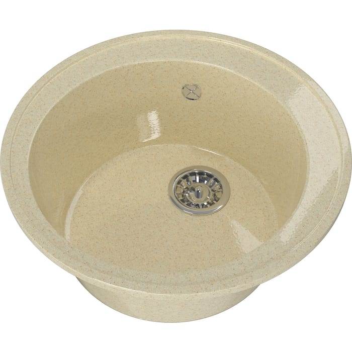 Мойка кухонная Mixline ML-GM Gloss 01 бежевая (4630085460763)
