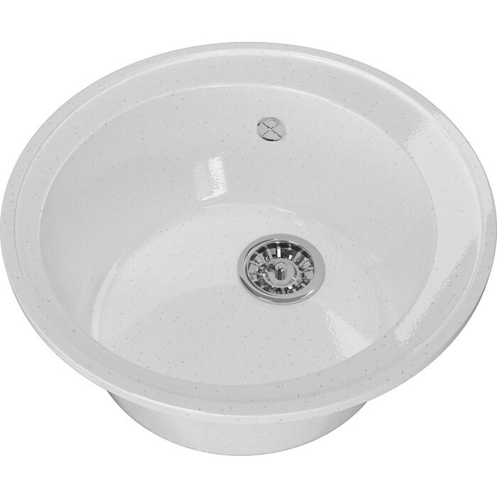 Мойка кухонная Mixline ML-GM Gloss 01 белая (4630085460770)