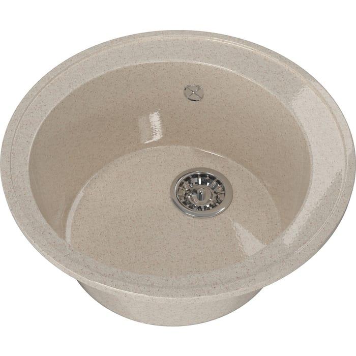 Мойка кухонная Mixline ML-GM Gloss 01 песочная (4630085460787)