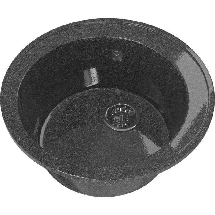 Мойка кухонная Mixline ML-GM Gloss 01 черная (4630085460800)