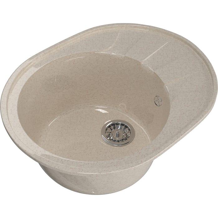 Мойка кухонная Mixline ML-GM Gloss 02 песочная (4630085460831)