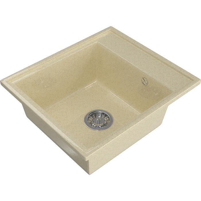 Мойка кухонная Mixline ML-GM Gloss 04 бежевая (4630085460916)