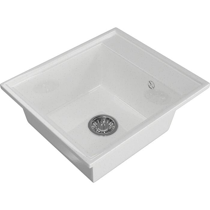 Мойка кухонная Mixline ML-GM Gloss 04 белая (4630085460923)