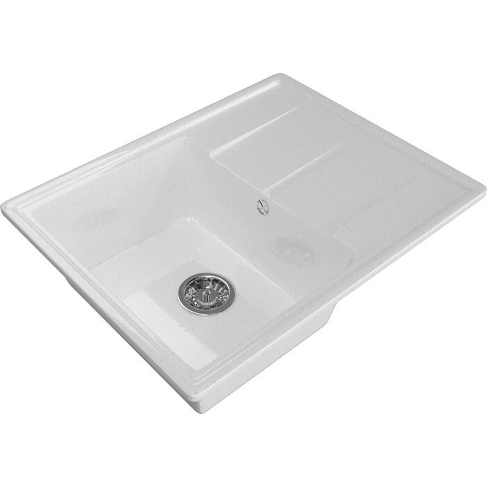 Мойка кухонная Mixline ML-GM Gloss 05 белая (4630085460978)