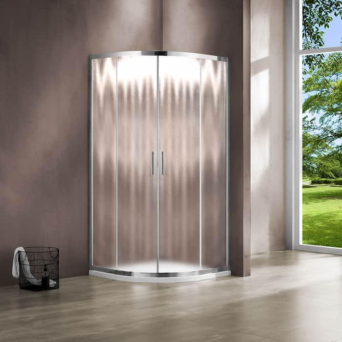 Душевой уголок Vincea Garda VSQ-1G 100x100 с поддоном, профиль хром, стекло шиншилла