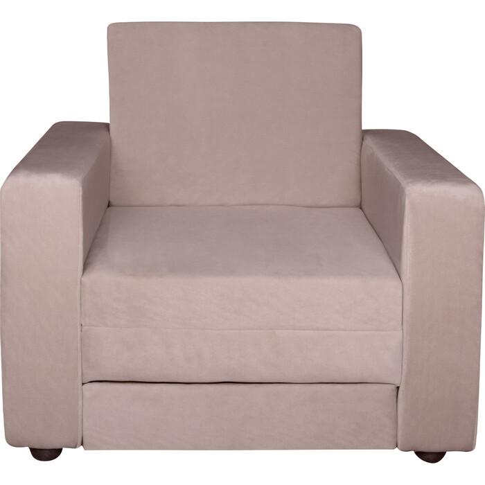 Кресло-кровать Экомебель Атлантида вельвет бежевый