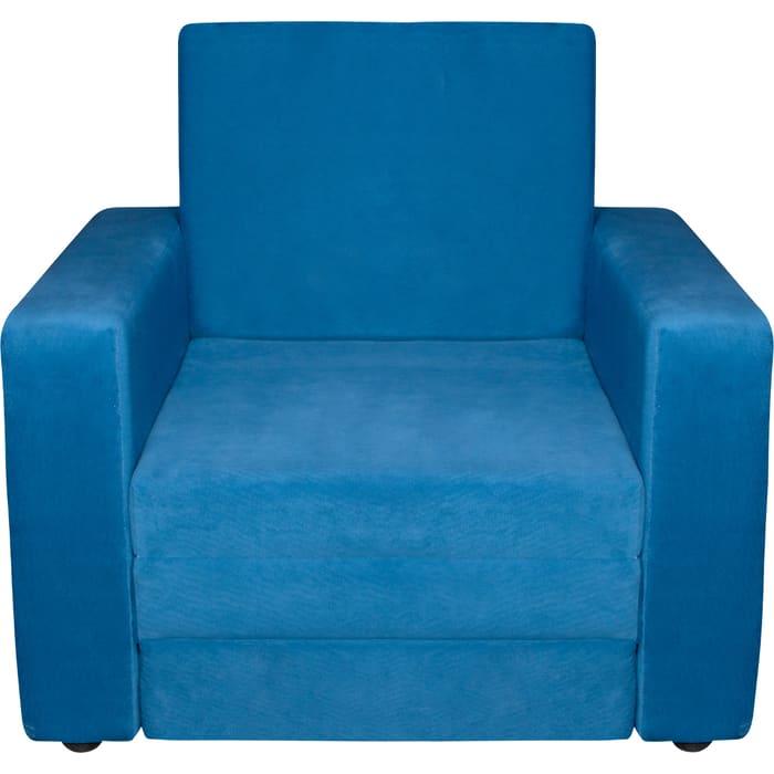 Кресло-кровать Экомебель Атлантида вельвет синий