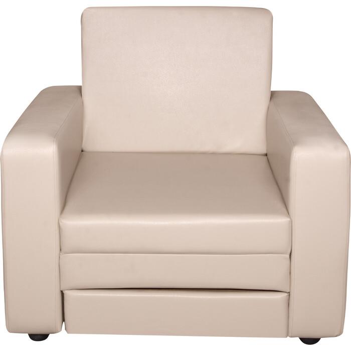 Кресло-кровать Экомебель Атлантида экокожа бежевая